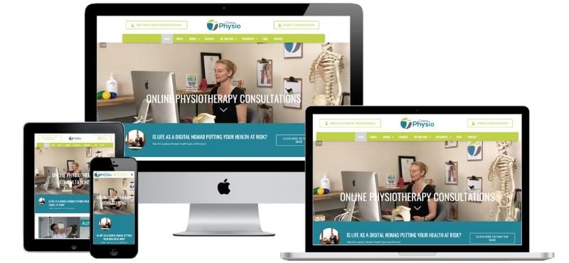 Online Physio Website Screenshot